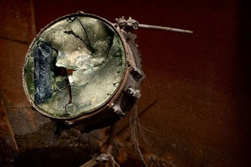 bashed drum