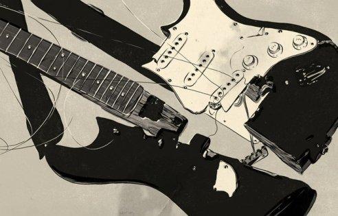 bashed guitar